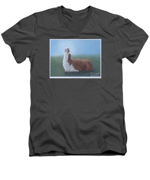 Dolly Llama Men's V-Neck T-Shirt