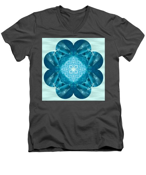 Dolphin Kaleidoscope Men's V-Neck T-Shirt