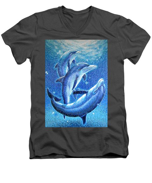 Dolphin Trio Men's V-Neck T-Shirt