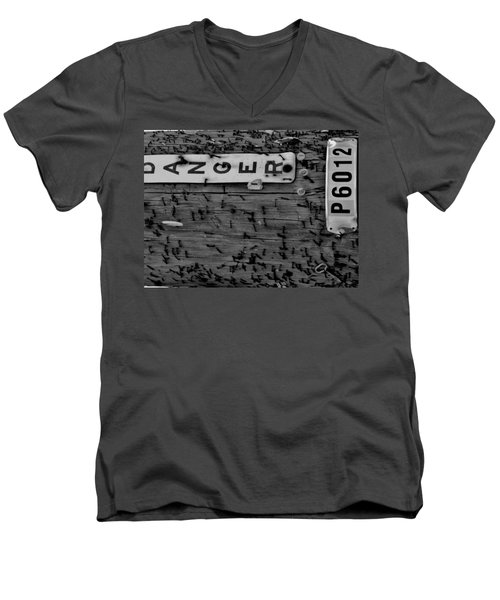 Men's V-Neck T-Shirt featuring the photograph Domestic Abuse by Amar Sheow
