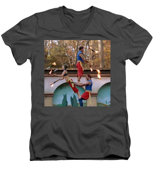 Don't Try This At Home Men's V-Neck T-Shirt by Rodney Lee Williams