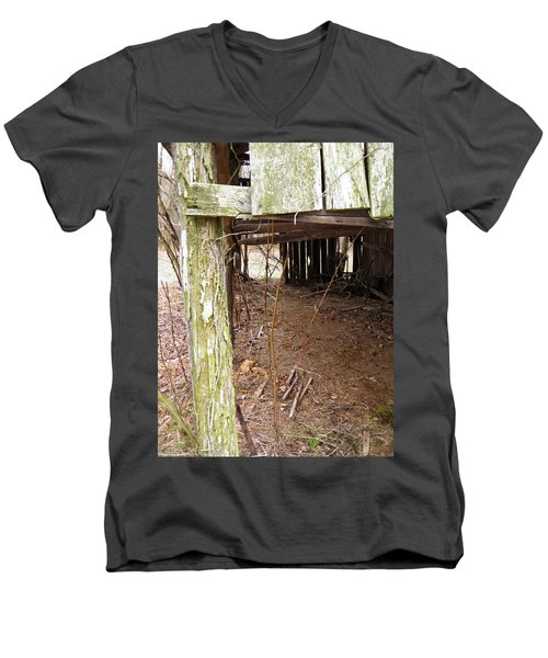 Men's V-Neck T-Shirt featuring the photograph Doorway To The Past by Nick Kirby