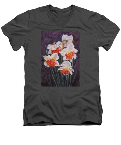 Double Daffodil Replete Men's V-Neck T-Shirt