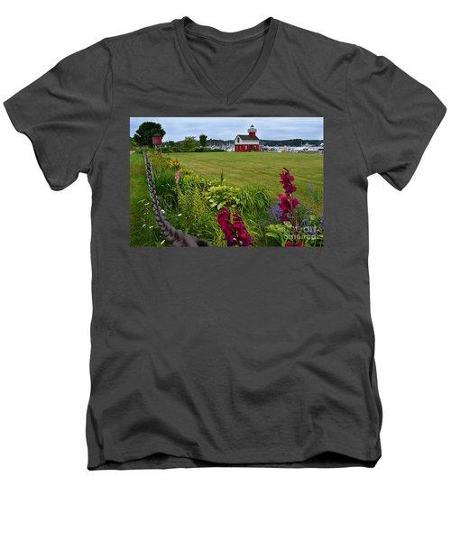 Douglas Lighthouse Water Tower Men's V-Neck T-Shirt