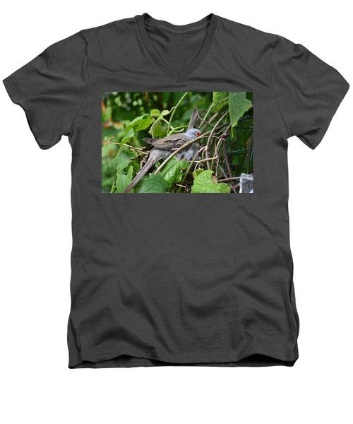 Dove Men's V-Neck T-Shirt