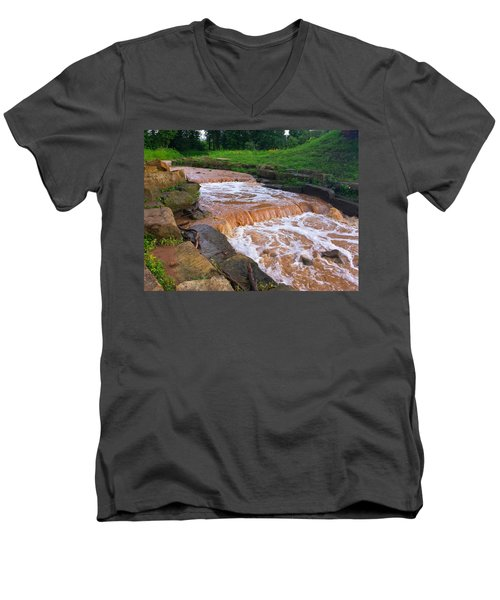 Men's V-Neck T-Shirt featuring the photograph Down A Creek by Chris Tarpening
