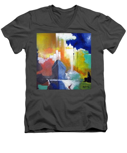 Down The Hudson Men's V-Neck T-Shirt by Gary Smith