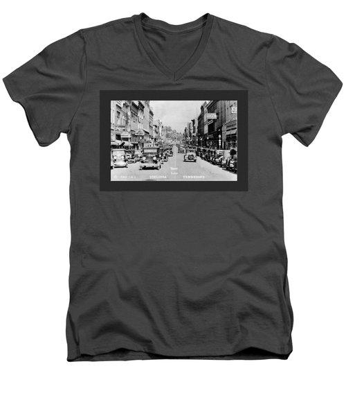 Downtown Bristol Va Tn 1931 Men's V-Neck T-Shirt