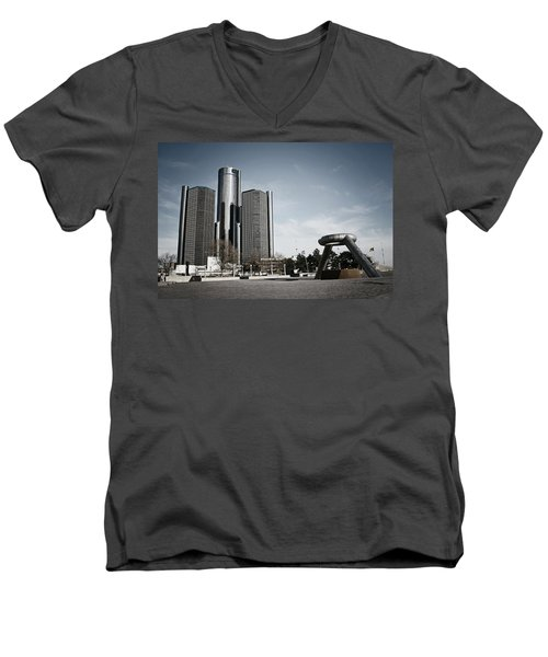 Downtown Detroit Men's V-Neck T-Shirt