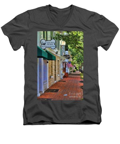 Downtown Dublin Ohio Men's V-Neck T-Shirt