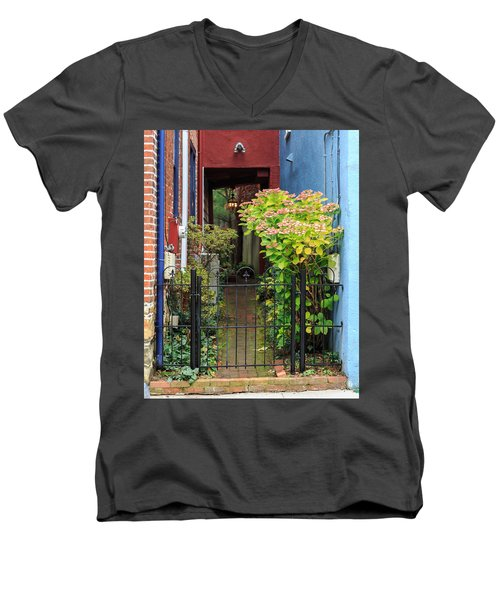 Downtown Garden Path Men's V-Neck T-Shirt