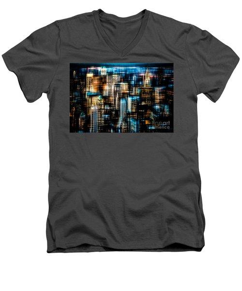 Downtown II - Dark Men's V-Neck T-Shirt