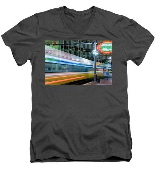 Downtown Train Men's V-Neck T-Shirt