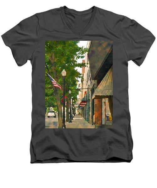 Downtown Usa Men's V-Neck T-Shirt