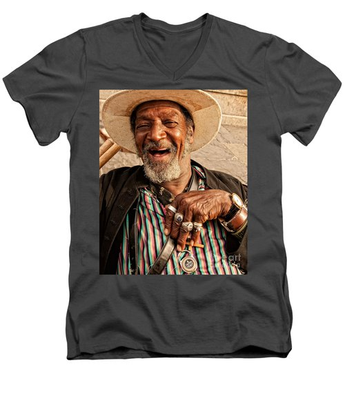 Dr. Luv New Orleans Men's V-Neck T-Shirt by Kathleen K Parker