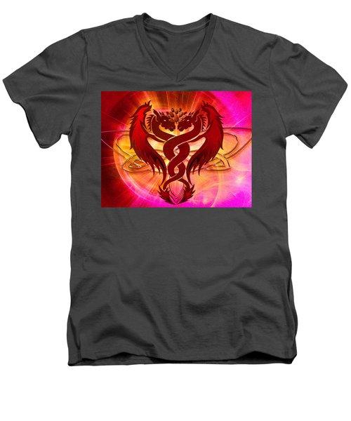 Dragon Duel Series 15 Men's V-Neck T-Shirt