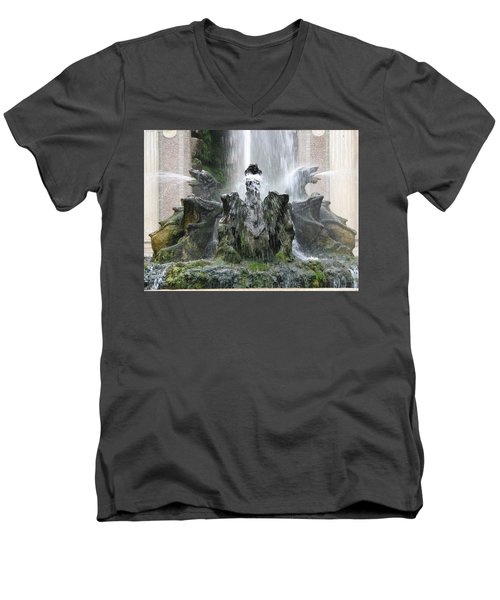 Dragon Fountain Men's V-Neck T-Shirt