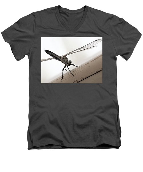 Men's V-Neck T-Shirt featuring the photograph Dragon Of The Air  by Micki Findlay