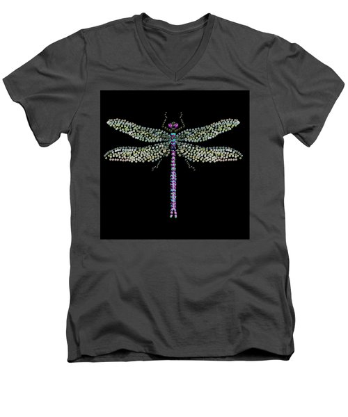 Dragonfly Bedazzled Men's V-Neck T-Shirt