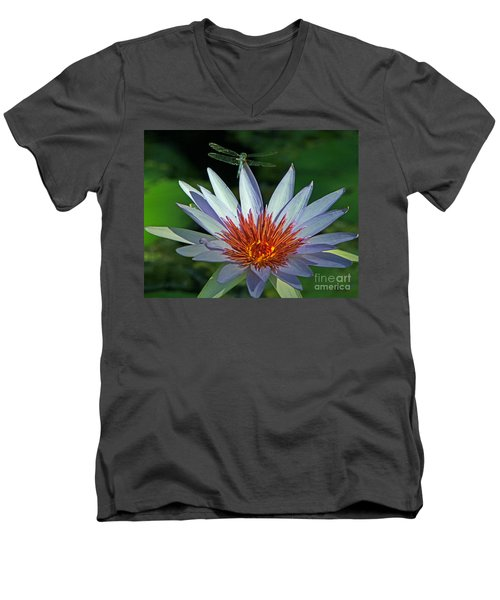Men's V-Neck T-Shirt featuring the photograph Dragonlily by Larry Nieland