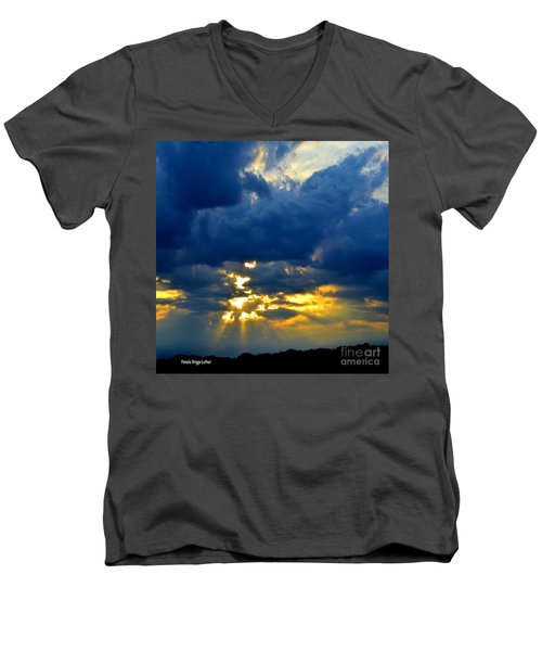 Dramatic Clouds Men's V-Neck T-Shirt