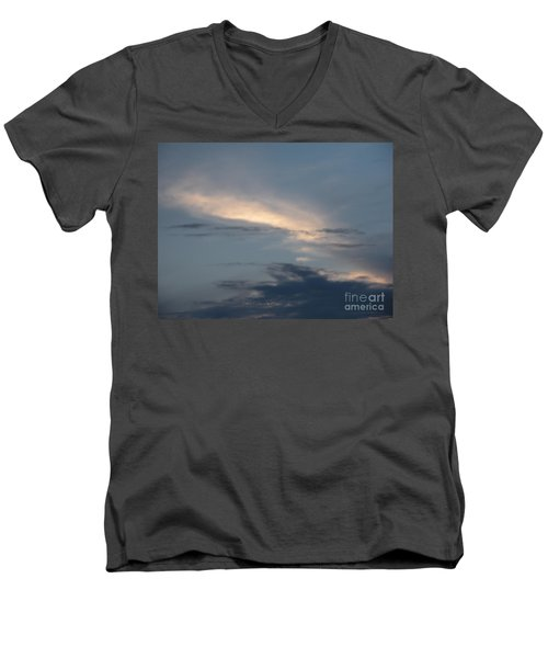 Dramatic Skyline Men's V-Neck T-Shirt by Joseph Baril