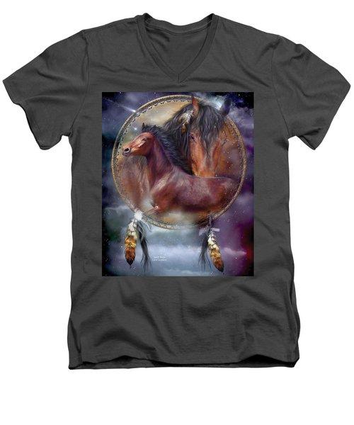 Dream Catcher - Spirit Horse Men's V-Neck T-Shirt