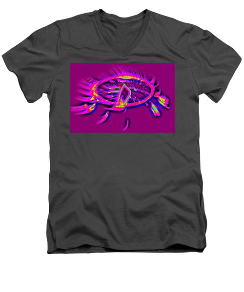 Dream Catcher With Light Men's V-Neck T-Shirt