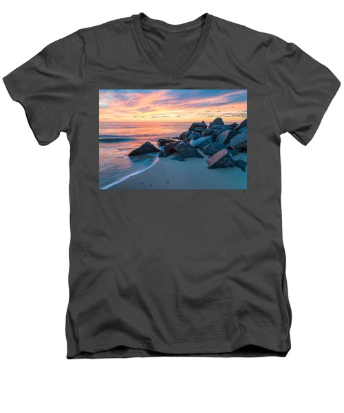 Men's V-Neck T-Shirt featuring the photograph Dream In Colors by Kristopher Schoenleber