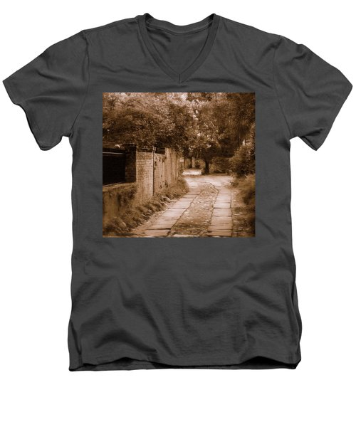 Men's V-Neck T-Shirt featuring the photograph Dream Road by Rodney Lee Williams