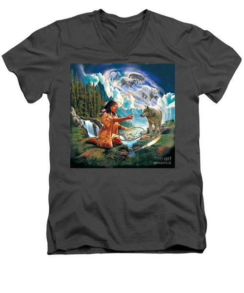 Dreamcatcher 3 Men's V-Neck T-Shirt
