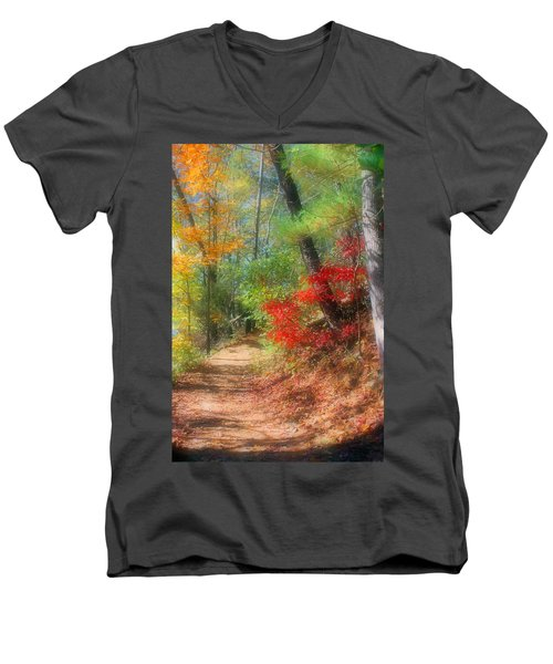 Men's V-Neck T-Shirt featuring the photograph Dreaming Of Fall by Kristin Elmquist