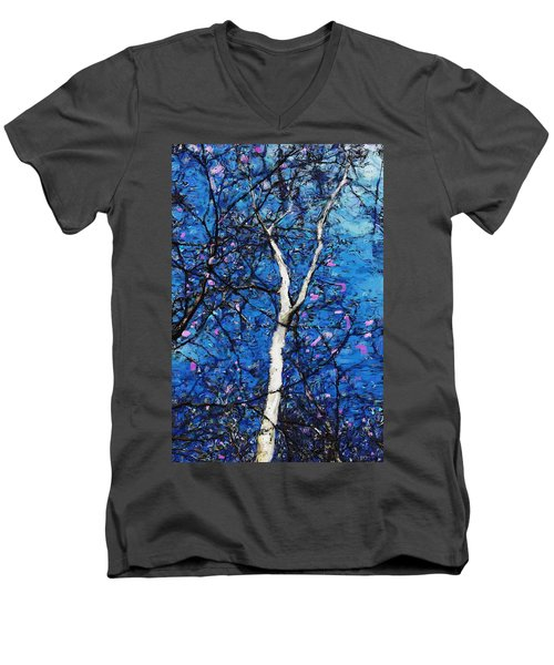 Men's V-Neck T-Shirt featuring the digital art Dreaming Of Spring by David Lane