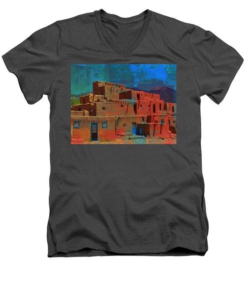 Dreams Of Taos Men's V-Neck T-Shirt