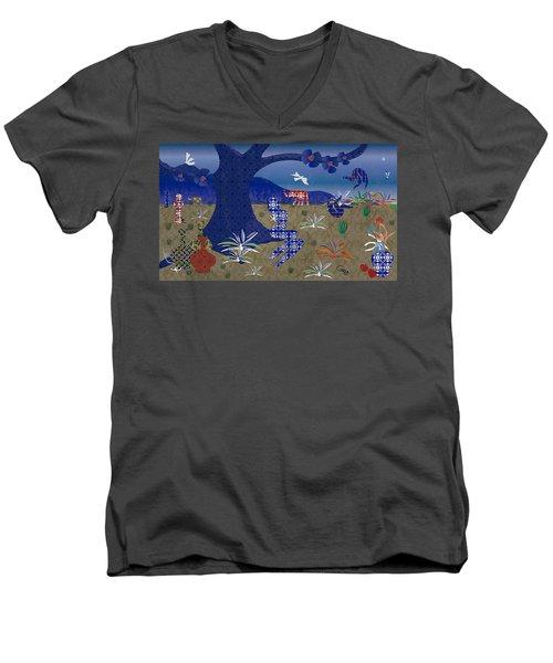 Dreamscape - Limited Edition  Of 30 Men's V-Neck T-Shirt by Gabriela Delgado
