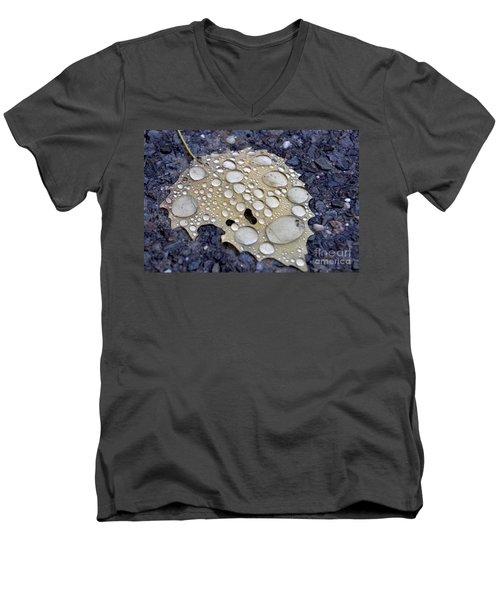 Drenched Leaf Men's V-Neck T-Shirt