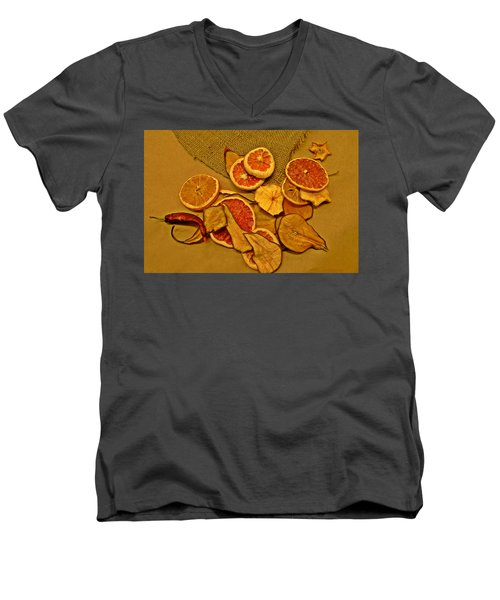 Dried Fruit Men's V-Neck T-Shirt by Brian Chase