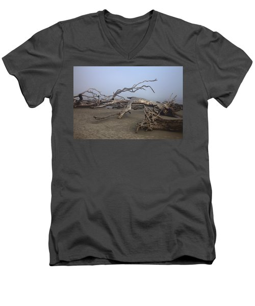 Driftwood Trees On Jekyll Island Men's V-Neck T-Shirt