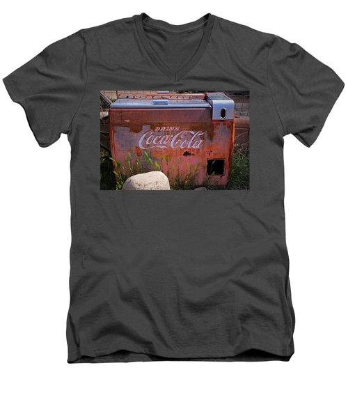 Drink Coca Cola Men's V-Neck T-Shirt by Lynn Sprowl