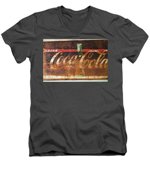 Drink Coca-cola Men's V-Neck T-Shirt