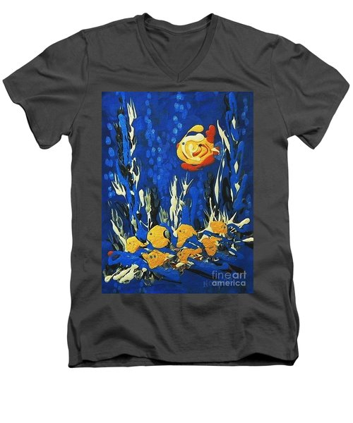 Drizzlefish Men's V-Neck T-Shirt