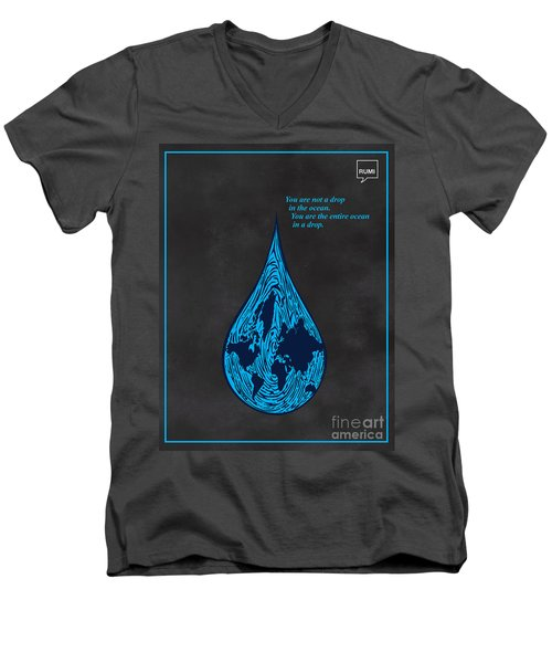 Drop In The Ocean Men's V-Neck T-Shirt