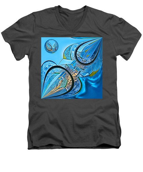Blue Fantasy Men's V-Neck T-Shirt