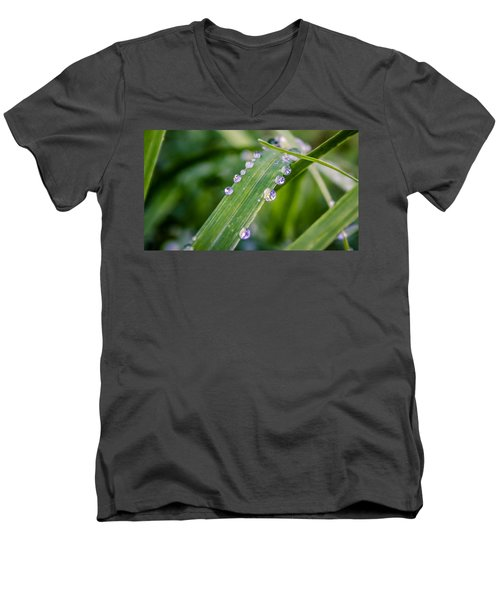Drops On Grass Men's V-Neck T-Shirt