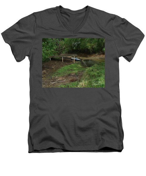 Men's V-Neck T-Shirt featuring the photograph Dry Docked by Peter Piatt