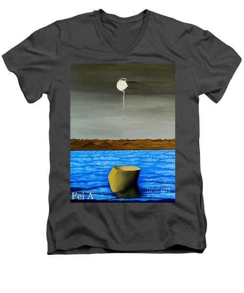 Dry-land Culture Men's V-Neck T-Shirt by Fei A