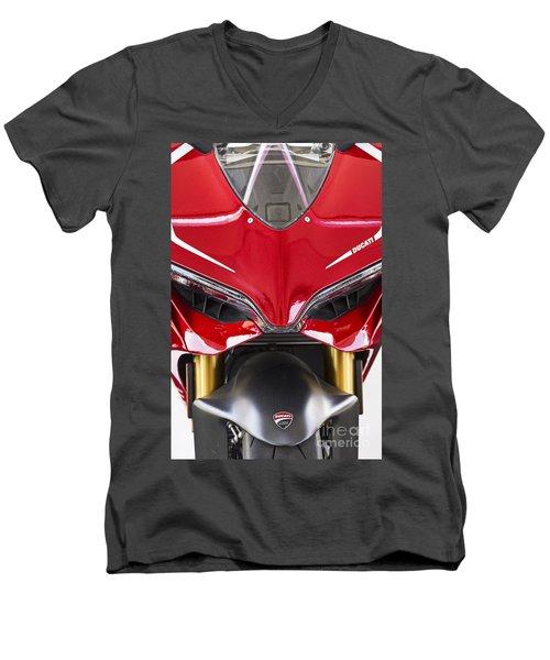 Ducati-unplugged V11 Men's V-Neck T-Shirt by Douglas Barnard