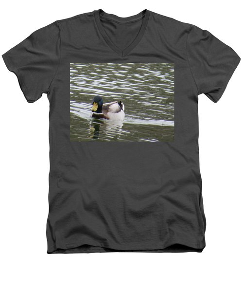 Duck Out For A Swim Men's V-Neck T-Shirt