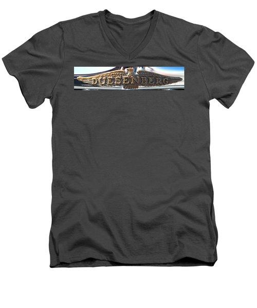 Men's V-Neck T-Shirt featuring the photograph Duesenberg  by Rebecca Davis