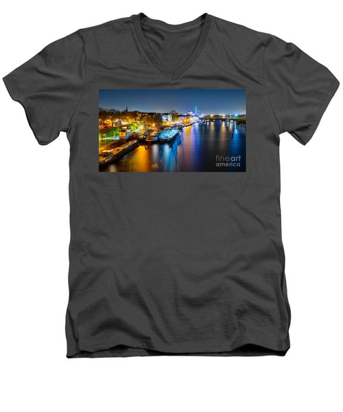 Duisburg Rhine East Bank Dammst Men's V-Neck T-Shirt